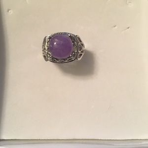 Jewelry - Purple and Silver ring (costume jewelry)